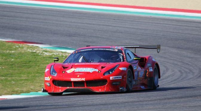 Scuderia Praha Ferrari bei den  12H Mugello auf der Pole