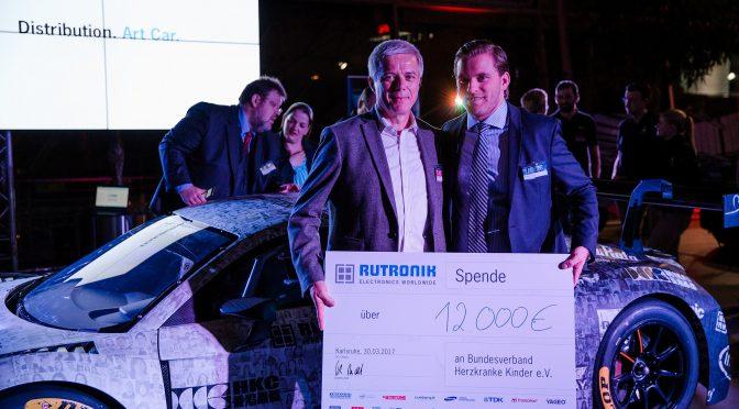 Rutronik präsentiert das Distribution Art Car 2017 für DMV GTC
